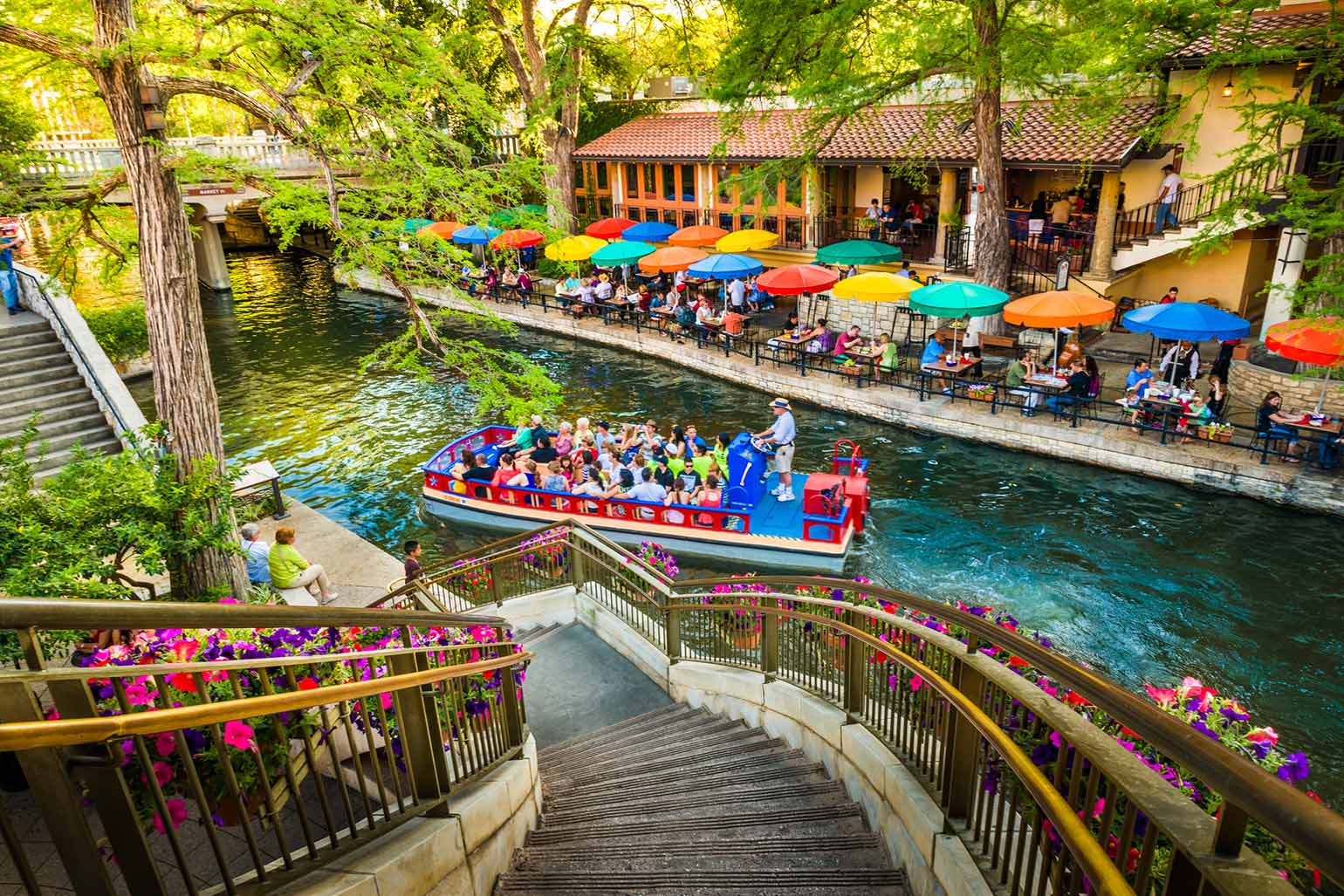 Le Riverwalk, le canal panoramique de San Antonio Park