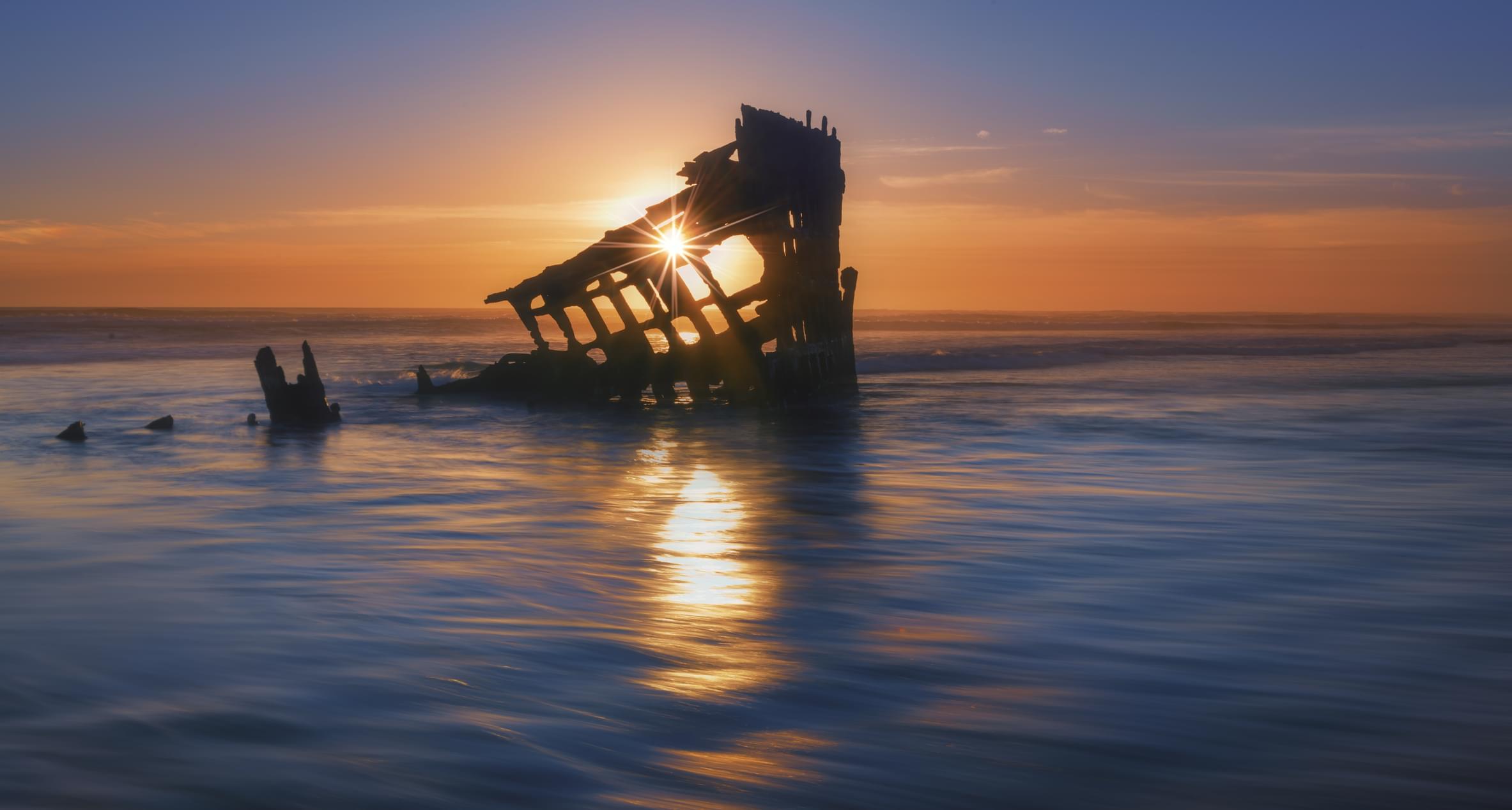 Les restes du navire Peter Iredale