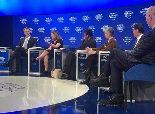 La ministre Chrystia Freeland au Forum économique mondial de Davos