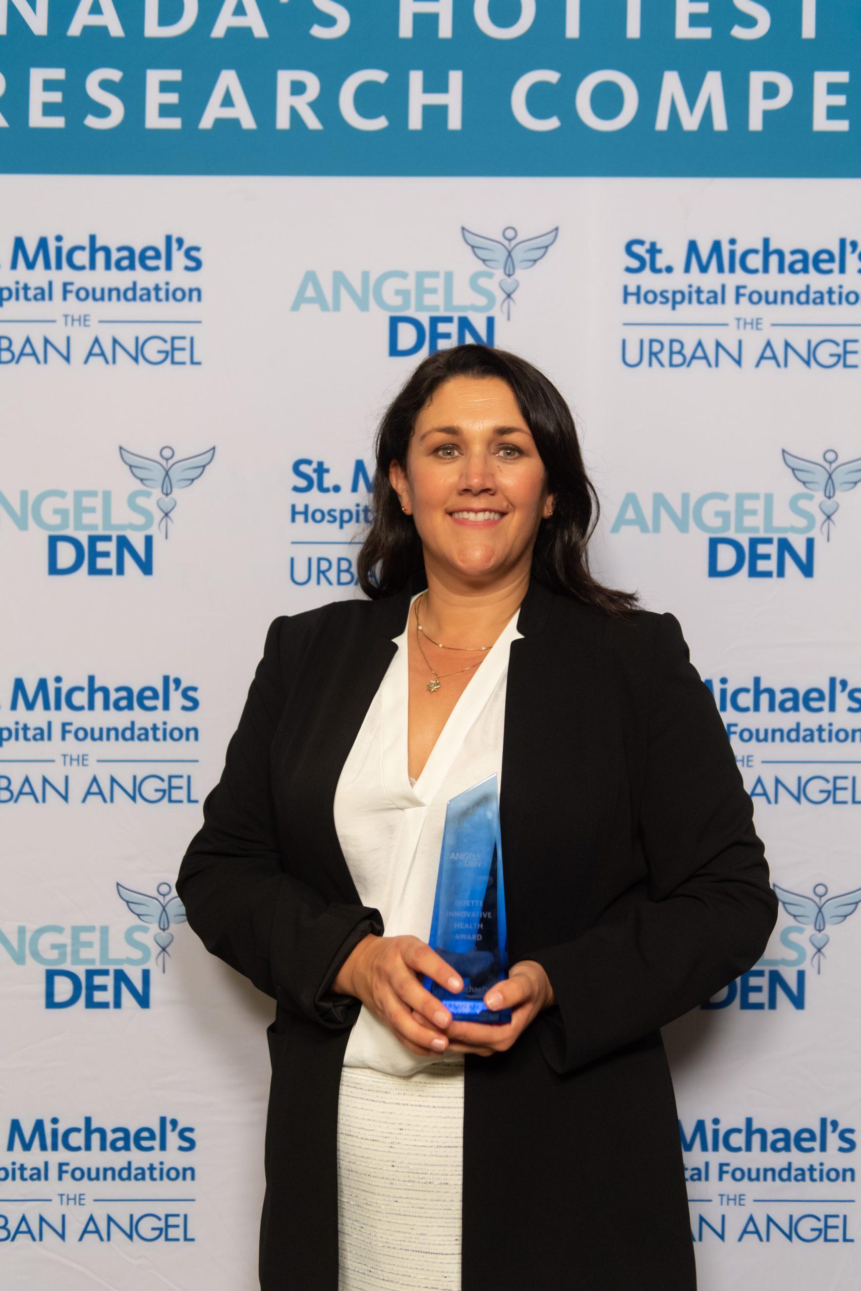 Dr. Karen Cross won the Odette Innovative Health Award for her work in tackling pressure injuries