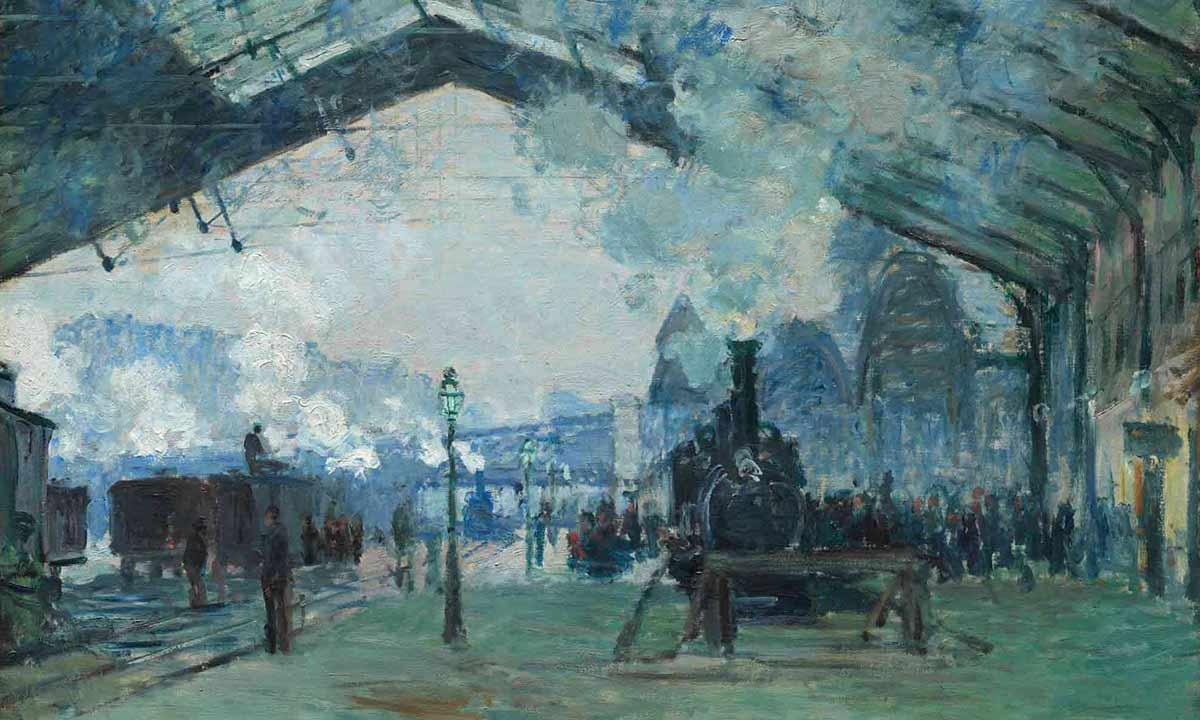 Claude Monet. L'arrivée du train de Normandie, gare Saint-Lazare (détail)