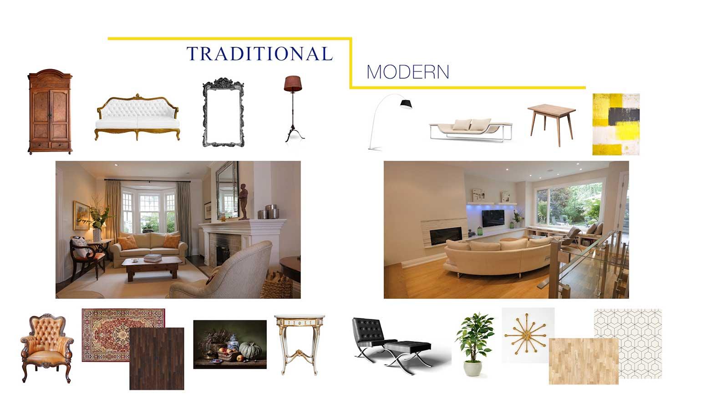 Mélange de moderne et de traditionnel.