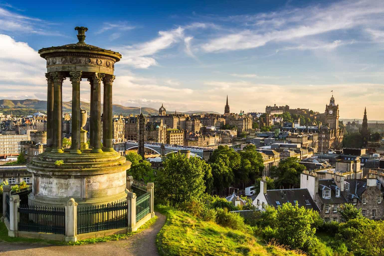 Vue magnifique de la ville d'Édimbourg.